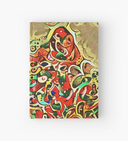 Ninja cat hiding in tropical colors Hardcover Journal