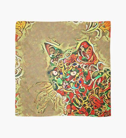 Ninja cat hiding in tropical colors Scarf