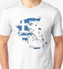 Greece Map Unisex T-Shirt