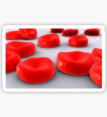 Conceptual image of red blood cells. Sticker