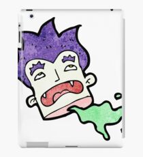 cartoon severed vampire head iPad Case/Skin
