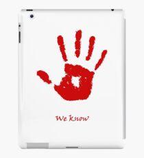Skyrim We know Red iPad Case/Skin
