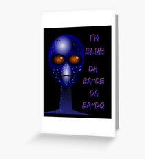 """I'm Blue"" Alien sci-fi Shirt Greeting Card"