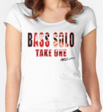 BASS SOLO TAKE ONE K E A  Women's Fitted Scoop T-Shirt