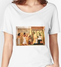 Detail of ancient papyrus Women's Relaxed Fit T-Shirt