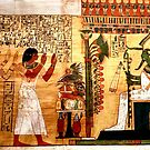 Detail of ancient papyrus by annalisa bianchetti