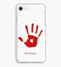 Skyrim We know Red iPhone Case/Skin