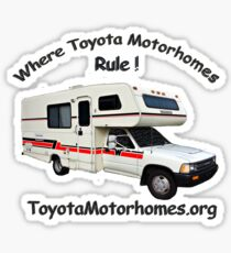ToyotaMotorhome.org - Where Toyota Motorhomes Rule Sticker