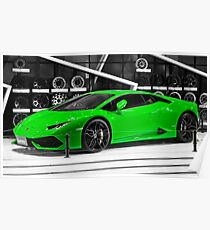 Lamborghini Huracan Coupe - Green Poster