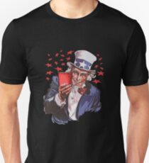 Uncle Sam Solo Cup American College Party Drinking Alcohol Unisex T-Shirt