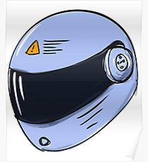 Cool Bike Helmet Poster