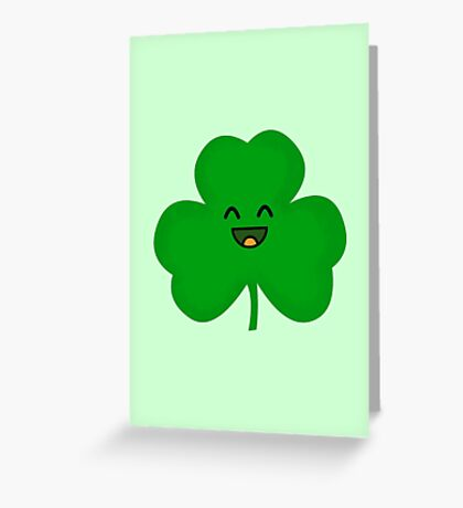 Happy Shamrock Greeting Card