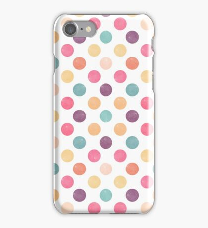 Watercolor Dots Pattern  iPhone Case/Skin
