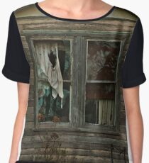 0407 Neglected Old Window Chiffon Top