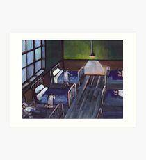 Bedtime in the childrens home (from my original painting) Art Print