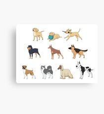 Purebred dogs Canvas Print
