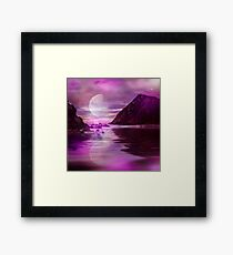 Mystic Moon over calm Waters Framed Print