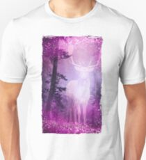 Mystic Deer in a pink glittering Forrest Unisex T-Shirt