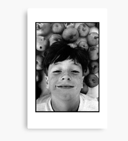 Barry and the Cooking Apples Canvas Print
