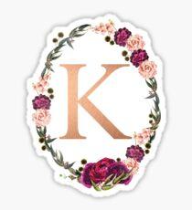 'K'  Sticker