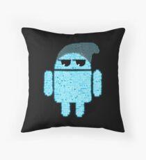 BeanieDroidv1.4 Throw Pillow