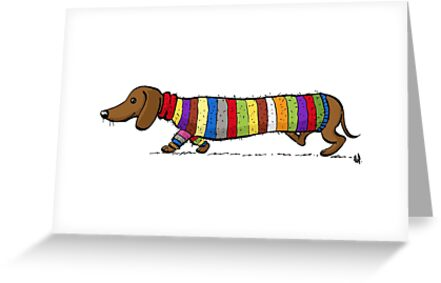 Colourful dachshund greeting cards by elinew redbubble colourful dachshund by elinew m4hsunfo