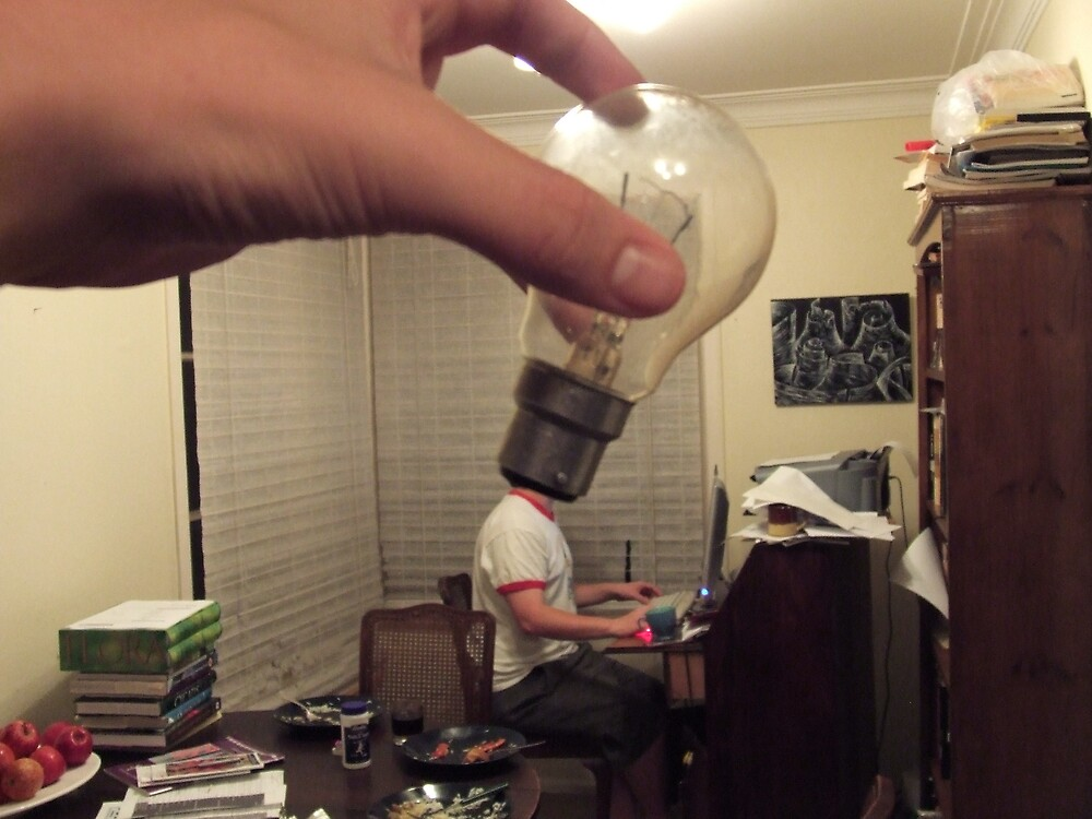 This man with a lightbulb for a head. by Grigori Rasputin