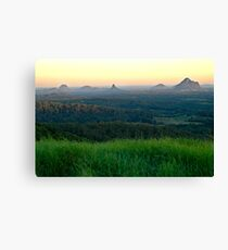 Glasshouse Mountains Sunset Canvas Print