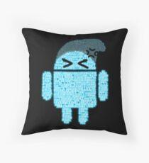 BeanieDroidv1.5 Throw Pillow