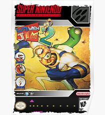 Earthworm Jim 2 Super Nintendo Collection Poster