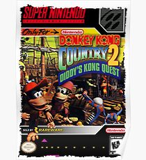 Donkey Kong Country 2 Super Nintendo Collection  Poster