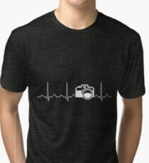 Camera Heartbeat Tri-blend T-Shirt
