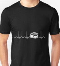 Camera Heartbeat Unisex T-Shirt