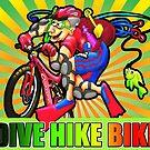 bike hike dive by oskeepops
