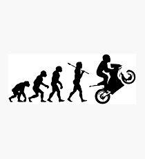 Motorbike evolution Photographic Print