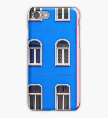 Windows on red and blue iPhone Case/Skin