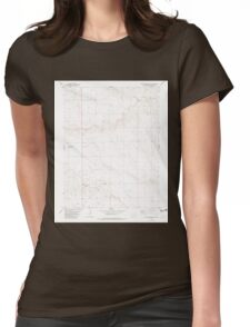 USGS TOPO Map Colorado CO Cheyenne Wells NE 232556 1982 24000 Womens Fitted T-Shirt