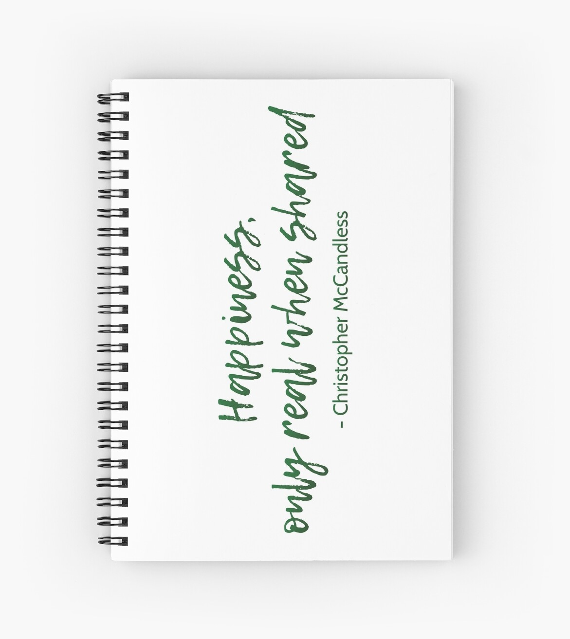 Into The Wild Happiness Quote Spiral Notebooks By Movieartwork