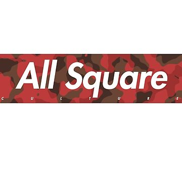 All Square Red Camo Box Logo by ethancs6