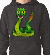 Green Rattle Snake Pullover Hoodie