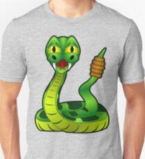Green Rattle Snake Unisex T-Shirt