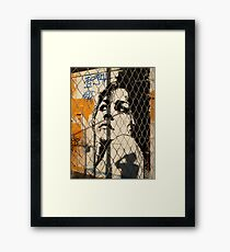 woman grafiti Framed Print