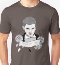 Friends Don't Lie - Stranger things Eleven Portrait - Grey Unisex T-Shirt