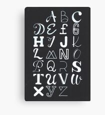 Alphabet typography Canvas Print