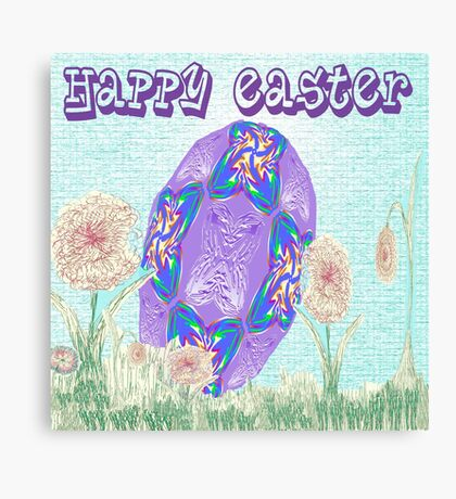 Happy Easter or Pretty Foil Egg Canvas Print