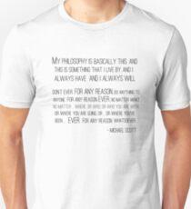 Michael Scott Philosophy Unisex T-Shirt
