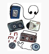 Retro tunes Photographic Print