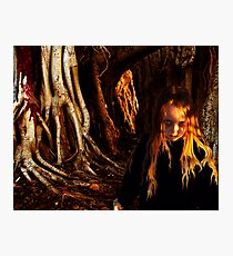 One Who Walks Among The Roots Photographic Print