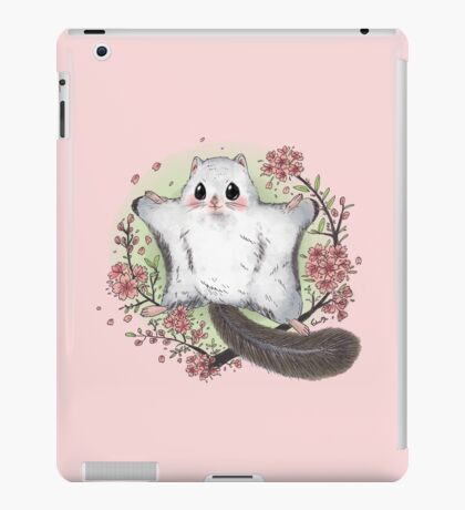 Flying Squirrel with Cherry Blossom iPad Case/Skin
