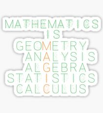 Mathematics is magic Sticker